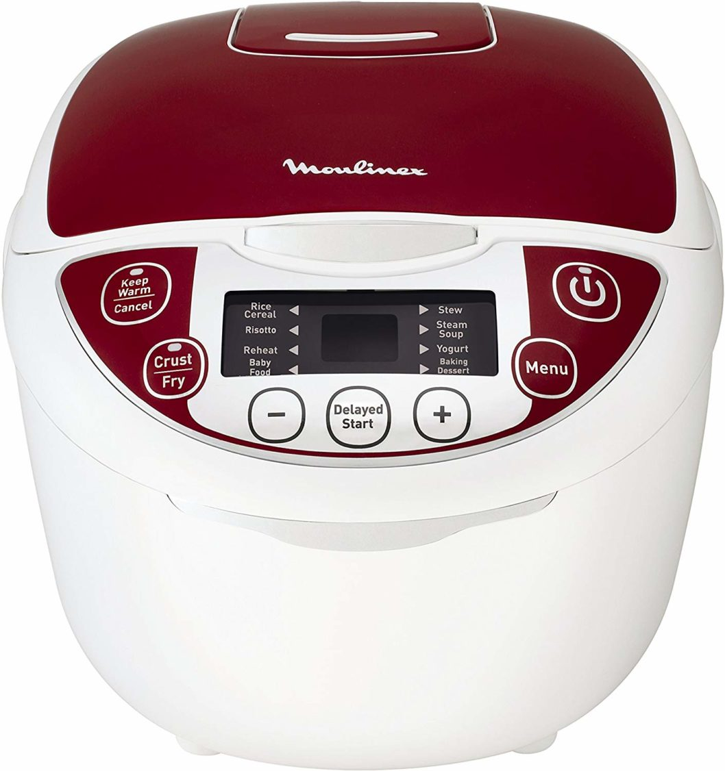 Moulinex MK705111 Multicuiseur Traditionnel 12-en-1 Rouge